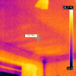 air infiltration above living room ceiling causing cooling