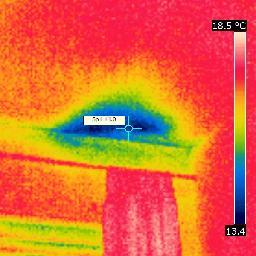 insulation hole at NW corner