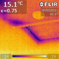 insulation hole under loft boards near hatch